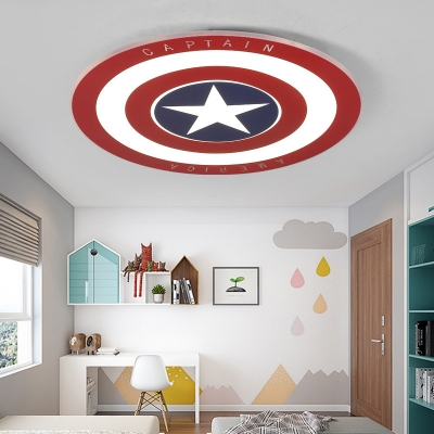 Blue &Red Star Ceiling Mounted Light Fashion Acrylic Remote Control Music Light Fixture for Kids Room