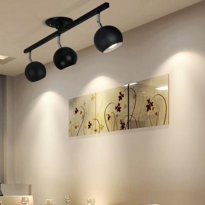 Living Room Bedroom Spot Light Angle Adjustable 3 Heads LED Track Lighting in White/Black