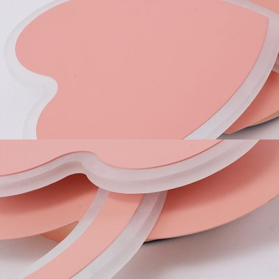 Love Heart Shape Ceiling Light White/Pink/Blue Slim Panel LED Flush Mount Light for Boy Girl Bedroom