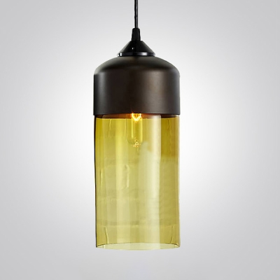 Multi Colored  Black Socket Industrial LOFT Mini Pendant Light