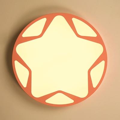 Stepless Dimming LED Ceiling Light Blue/Pink/Blue Ceiling Mount Light for Boy Girl Bedroom