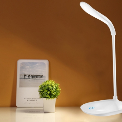 USB Charging Port Reading Lighting White/Pink/Blue Desk with 3 Lighting Temperature for Bedroom