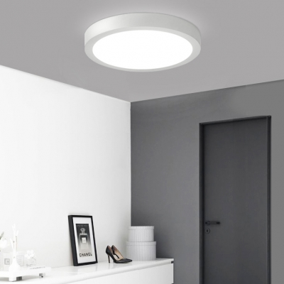 6 Pack Round Shape Down Light Bedroom Mall 6W Aluminum 4 Inch Slim Panel LED Light Fixture in White