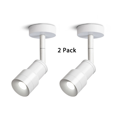 (2 Pack)Display Windows Adjustable Ceiling Fixture White/Black High Brightness Aluminum LED Spot Life in White/Warm White