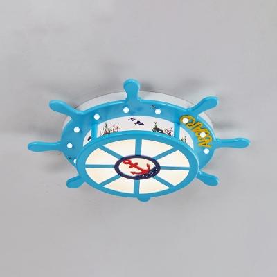 Pirate Ship Shape Ceiling Light White Lighting/Warm Lighting/Stepless LED Ceiling Light for Kids Bedroom
