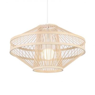 Stupendous Vintage Style Ceiling Light Fixture Bamboo Single Light Beige Hanging Best Image Libraries Thycampuscom