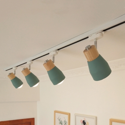 Rotatable Living Room Ceiling Lamp Wood