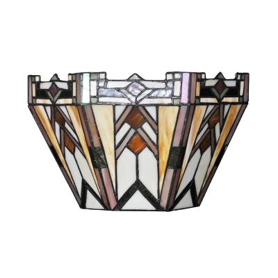 Multi Color Up Lighting Light Sconce Tiffany Style Glass Remote Control Wall Light for Bedroom Kitchen