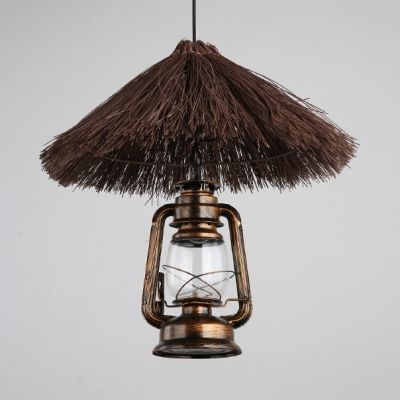 Straw Hat Hanging Light with 47