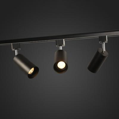 1 Head Cylinder LED Ceiling Lamp Modern Black/Gold/White Track Light in White/Warm White for Shop
