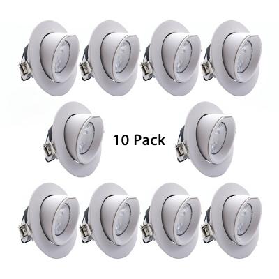 10 Pack 360 Adjule Angle Recessed Light Kitchen Aluminum