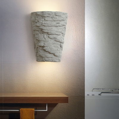 Cement Wall Light Living Room Coffee Shop Single Light Vintage Style Sconce Light in Gray