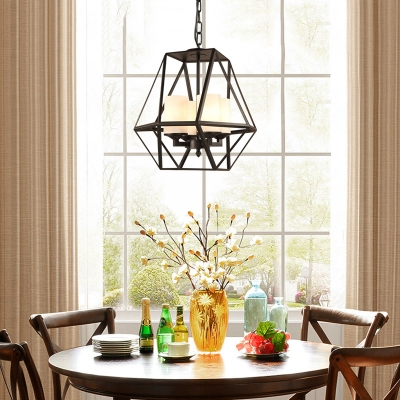 Metal And Glass Pendant Light Living Room 3 4 Lights Industrial Style Chandelier In Black Beautifulhalo Com