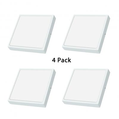 (4 Packs)Bedroom Living Room Flush Mount Light 4 Pack 3.5 Inch Square Slim Panel LED Spot Light with White Light