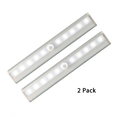 Pack of 2/3 Cabinet Lighting Battery Powered Infrared Sensing 10 LED Counter Lighting in White/Warm