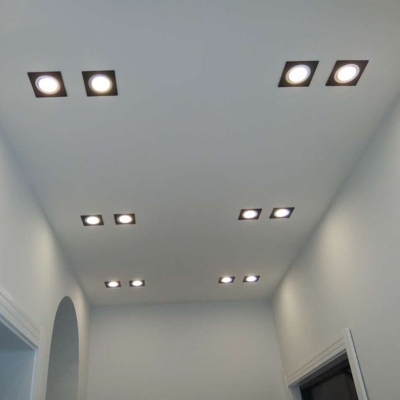 (10 Pack)White/Black Recessed Light 5/7/9/12W 3.5-4.5/5 Inch Square Light Fixture Recessed for Restaurant