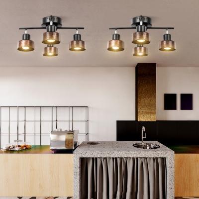 2/3/4 Heads LED Spot Light Kitchen Restaurant Angle Adjustable High Brightness Vintage LED Ceiling Light