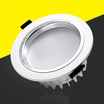 (10 Pack)8 Inch Recessed Down Light 24W Flush Mount Light in White/Warm/Neutral for Meeting Room Office