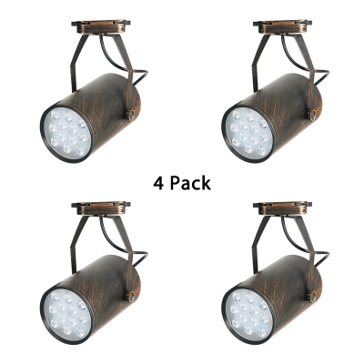 (4 Pack)Rotatable Cylinder Track Light Restaurant Cafe 1 Head Vintage Ceiling Light in Warm White/Cool White