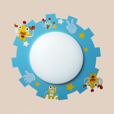 5 Pattern Optional Flush Mount Light Cute Colorful Acrylic Ceiling Light Fixture for Child Bedroom