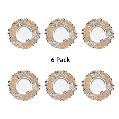 (6 Pack)5W 2-3.5 Inch Recessed Down Light Wireless Glass and Crystal Spotlight Recessed in White/Warm White for Living Room