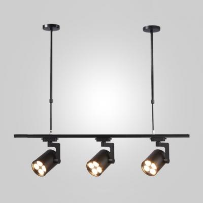 Black Cylinder Led Track Light 3 Lights