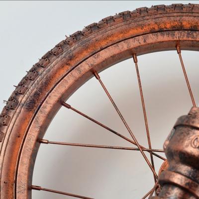 Metal Wheel Sconce Lighting 1 Light Industrial Wall Lighting in Rustic Copper for Bar