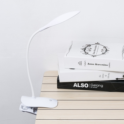 White/Yellow Energy Saving LED Reading Light with USB Charging Port and Clip 3 Lighting Modes Desk Lamp