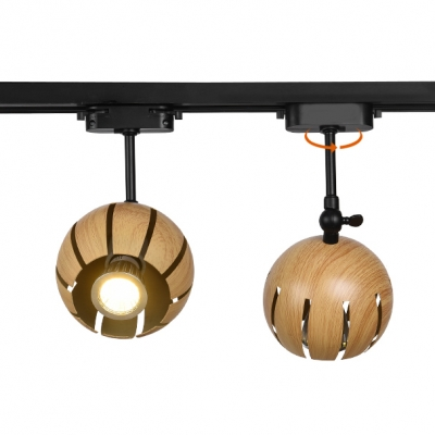 (3 Pack)Beige Melon LED Ceiling Lamp 1 Light Vintage Metal Rotatable Track Lighting for Living Room