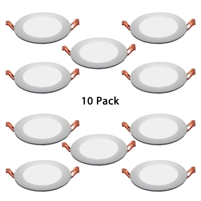 (10 Pack)Circle Flawless LED Recessed Light Kitchen 4/6/11 Inch Wireless Recessed Light in Warm/White