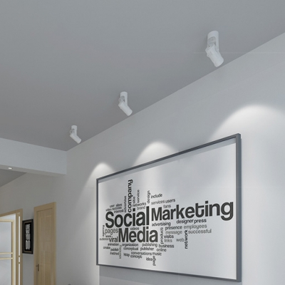 Angle Adjustable LED Spot Light Aluminum Flush Mount Light in Warm/White for Stair Hallway