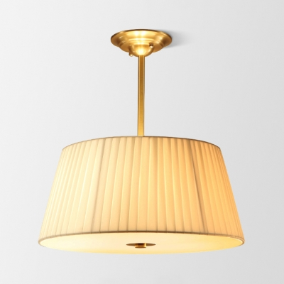 Modern Tapered Semi Flush Ceiling Light 3/4 Lights Fabric Acrylic Ceiling Lamp in White for Shop