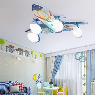 Remote Control LED Ceiling Light Creative 2 Plane Shape Optional Flush Mount Light with White Lighting for Kids Room