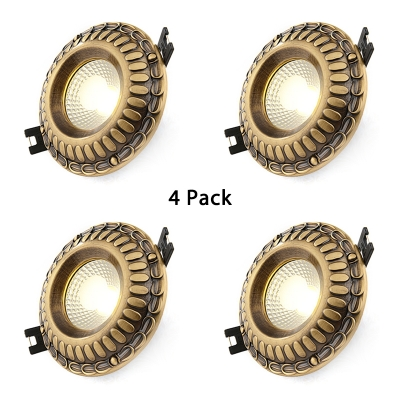 (4 Pack)3-3.5 Inch Circle Recessed Light 3W Vintage Style Light Fixture Recessed in White/Warm for Living Room Hallway
