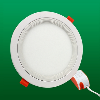 9W Round Recessed Light Metal Easy-to-Install Recessed Down Light in White