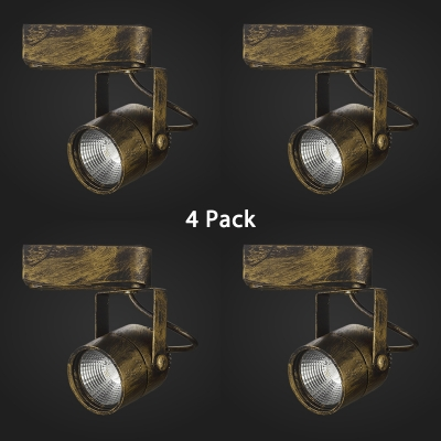 (4 Pack)Antique Style Reflector Track Light 1 Head Rotatable Ceiling Light in White/Warm White for Cafe Bar