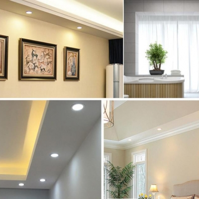 (10 Pack)Wireless 3 Inch Recessed Light 5W LED Light Fixture Recessed for Dining Room Hallway