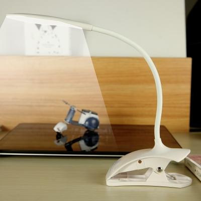 3 Lighting Choice LED Desk Light with Flexible Gooseneck Dimmable USB Charging Port Desk Lamp for Dormitory