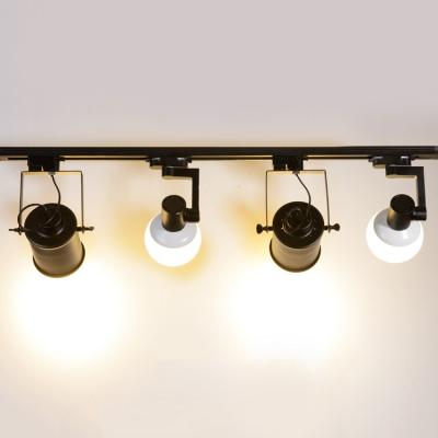 Creative Rotatable Ceiling Light 4 Lights Metal Led Track Lighting In
