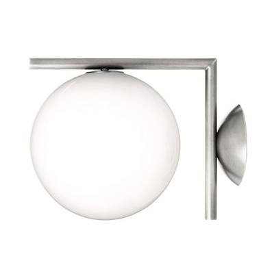 Indoor Globe Wall Light White Golden/Chrome
