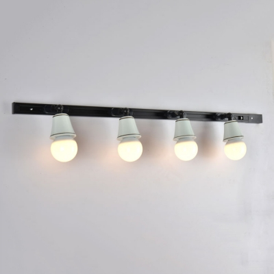 Simple Style Rotatable Ceiling Lamp High Brightness 4 Lights Ceramic LED Track Light for Shop