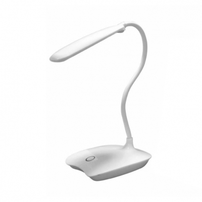 Touch Switch LED Desk Lamp Flexible Gooseneck Reading Lighting with USB Charging Port for Office
