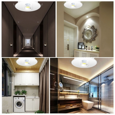 (4 Pack)7W 4 Inch LED Recessed Down Light Wireless Motion Detector Ceiling Light Recessed for Dining Room Bathroom
