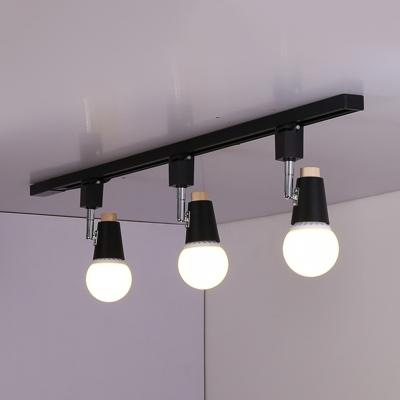 Commercial Rotatable LED Ceiling Light High Brightness Metal Black/White Track Lighting