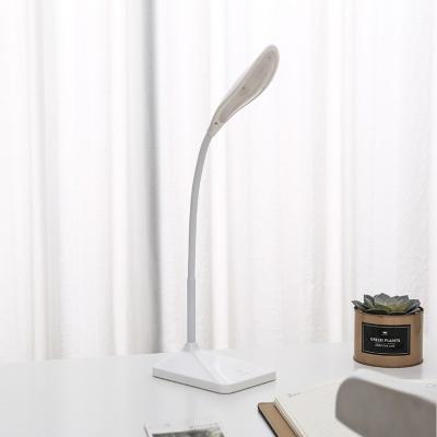 Foldable Eye Caring Desk Light Energy Saving Flexible Goose Neck White/Pink/Green Reading Lighting for Bedside Table