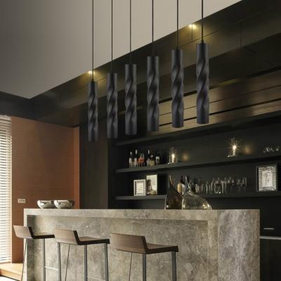 Modern Cylinder Aluminum Led Spot Light White Black Gold Hanging Light For Restaurant Shop Beautifulhalo Com