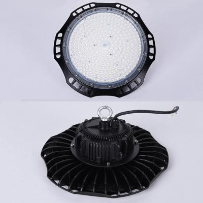 1/4 Pack Black LED Bay Lighting Slim UFO Aluminum High Brightness Hanging Light for Supermarket