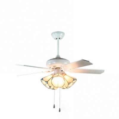 42 Inch Glass Cone Ceiling Light Living Room 3/4/5 Lights LED Semi Flush Ceiling Lamp in White