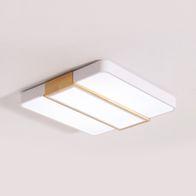 Macaron Loft Candy Color Ceiling Mount Light Square Acrylic LED Flush Light in Warm/White for Hallway