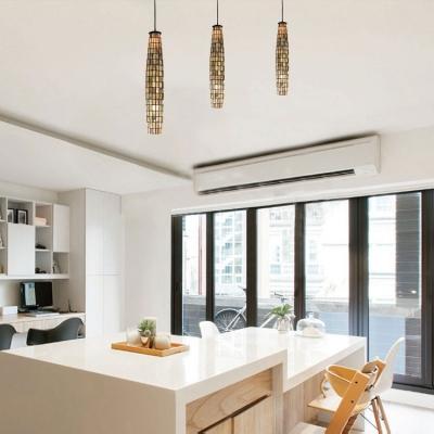 Art Gl Mini Pendant Light Dining Table 1 Mosaic Ceiling